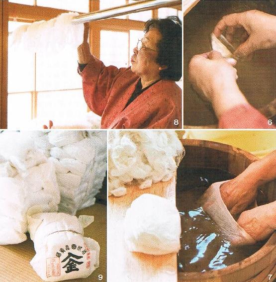 純国産の入金真綿作り